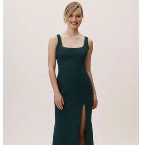 BHLDN Aden dress - dark emerald